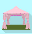 wedding tent icon flat style vector image vector image