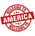 welcome to america red stamp vector image vector image