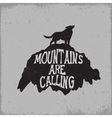Wolf howling on mountain vector image vector image