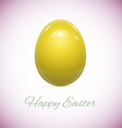 Yellow Easter Egg Isolated on White vector image vector image