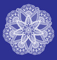 circle ornament for laser cutting paisle vector image