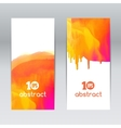 watercolor design elements banners for vector image