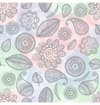 flower seamless watercolor background vector image