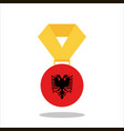 medal with the albania flag isolated on white vector image