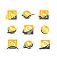 dollar symbol coin logo icons vector image