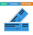 Flat design icon of airplane tickets vector image