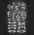 vintage ribbons on chalkboard vector image