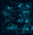 abstract blue color triangles and low polygon vector image vector image