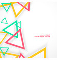 abstract colorful triangles with shadow vector image