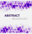 abstract purple triangle overlapping background vector image vector image