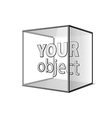 Abstract transparent box on grey background EPS 10 vector image vector image