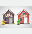 an old house to sell and a new one to buy vector image