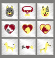 assembly flat shading style icons dogs cats pets vector image vector image