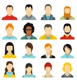 Avatars icons set flat style vector image vector image