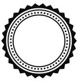 badge seal element contour of circular vector image vector image