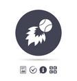 baseball fireball sign icon sport symbol vector image vector image
