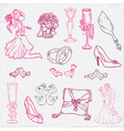 Beautiful Wedding Hand Drawn vector image vector image