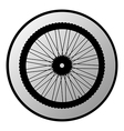 Bicycle wheel button vector image vector image