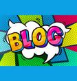 blog word bubble vector image vector image