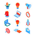 business and marketing - modern isometric icons vector image