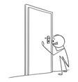 cartoon man or businessman looking through vector image vector image