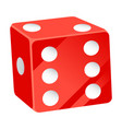 casino dice playing cubes with dots number vector image vector image