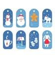 Christmas and Winter Holidays Gift Labels or Tags vector image vector image