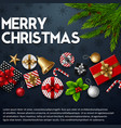 christmas blue background with elements vector image vector image