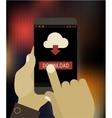 Cloud computing app mockup vector image vector image