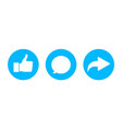 comment share like button icon post click symbol vector image vector image