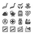 cordyceps icon set vector image vector image