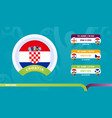 croatia national team schedule matches in the vector image vector image