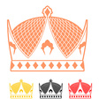 Crown flat style icon Headdress symbol of vector image vector image
