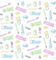 dental accessories pattern vector image