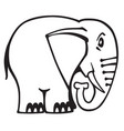 elephant logo black and white vector image vector image