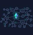 ethereum network blockchain conceptual vector image
