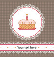 first birthday cake vector image vector image