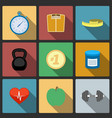 Fitness healthy lifestyle icons set vector image vector image