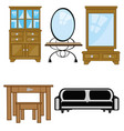 furniture for apartment vector image vector image