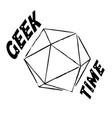 geek time vector image