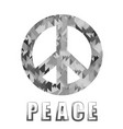 grey pacifist sign vector image