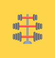gym equipment barbell stand in various weight icon vector image