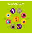 Halloween Party Infographics Concept vector image vector image