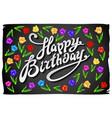 happy birthday card celebration background vector image vector image
