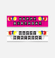Happy birthday party flags banner with balloon