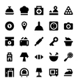Hotel Services Icons 1 vector image vector image