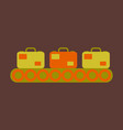 icon in flat design for airport baggage check vector image vector image