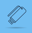 icon portable data storage usb vector image vector image