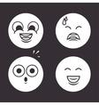 Icons emoticons monochrome design vector image