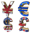 Icons Set Currency vector image vector image
